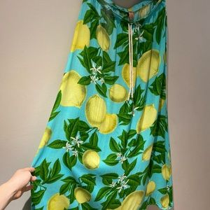 NWT FARM lemon skirt size M/L